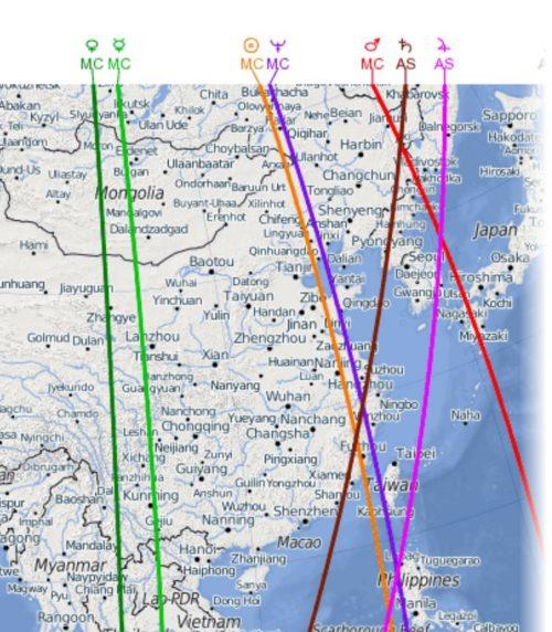アストロ風水マップ・アジア